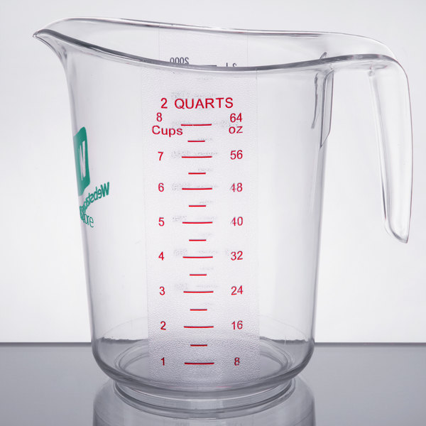 Whether You Need A Precise Amount Of Water Milk Or Juice This 2 Qt Measuring Cup Is Sure To Do The Trick With Its Ergonomic And Durable Plastic
