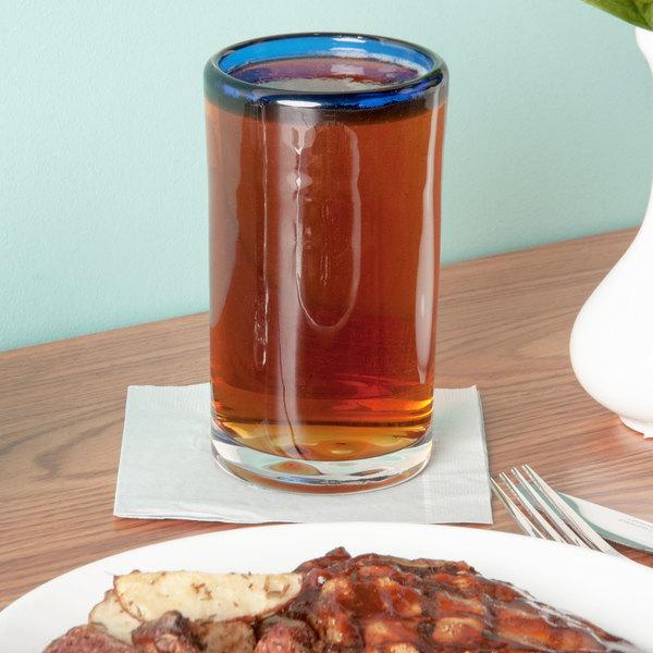 Libbey 92303 Aruba 16 oz. Cooler Glass with Cobalt Blue Rim - 12/Case Main Image 2