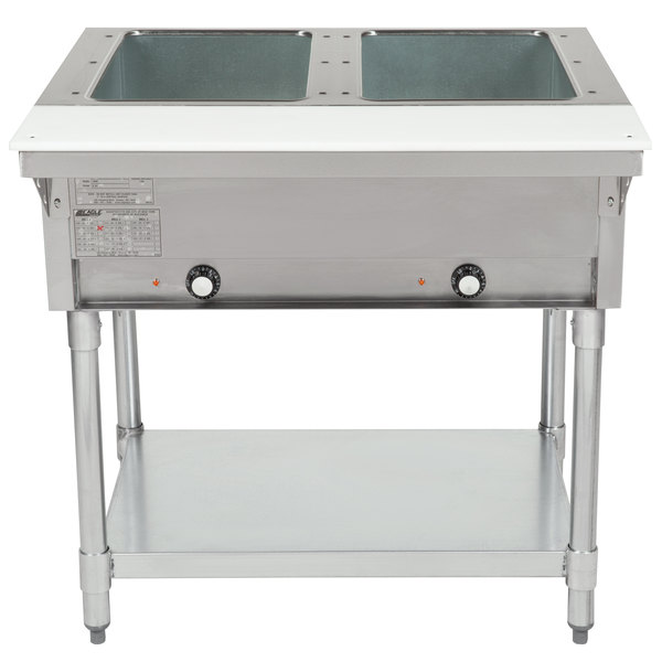 Eagle Group DHT2 Open Well Two Pan Electric Hot Food Table - 208V Main Image 1