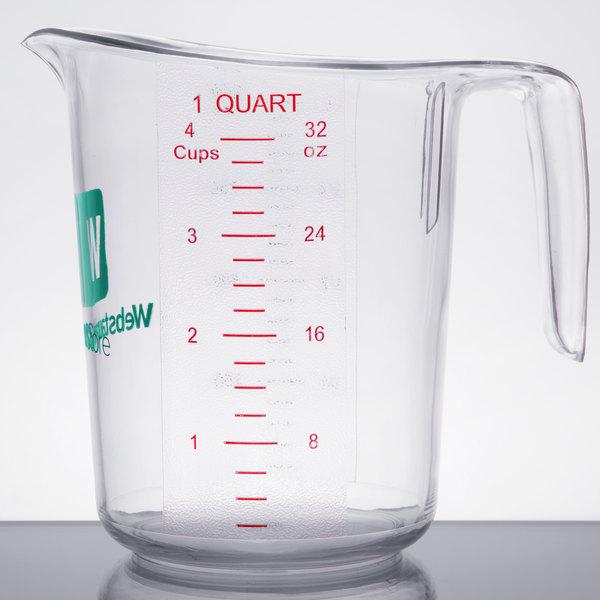 WebstaurantStore 1 Qt. Clear Polycarbonate Measuring Cup