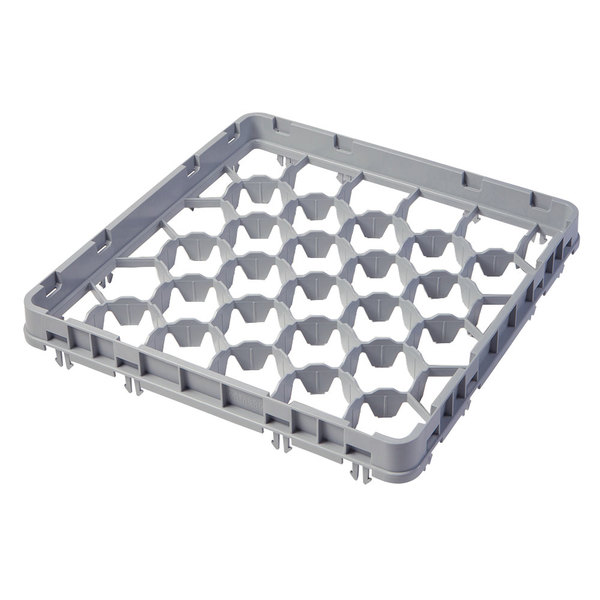 Cambro 30GE2151 Soft Gray Full Size 30 Compartment Half Drop Glass Rack Extender