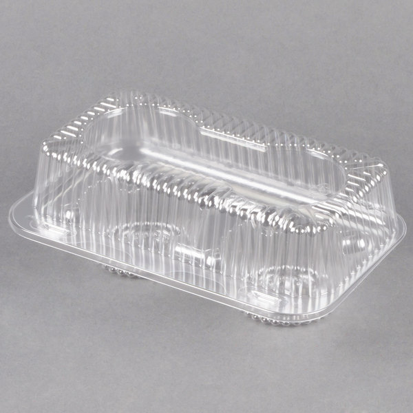 Polar Pak 2126 2 Compartment Hinged Clear Muffin Takeout Container - 250/Case