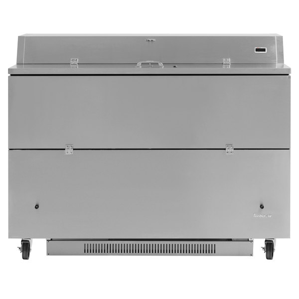 """Turbo Air TMKC-58D-N-SS Super Deluxe 58"""" Dual Sided All Stainless Steel Milk Cooler"""