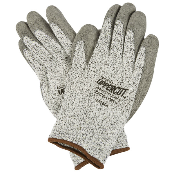 Salt and Pepper High Performance Cut Resistant Glove with Polyurethane Palm Coating - Large - 2/Pack