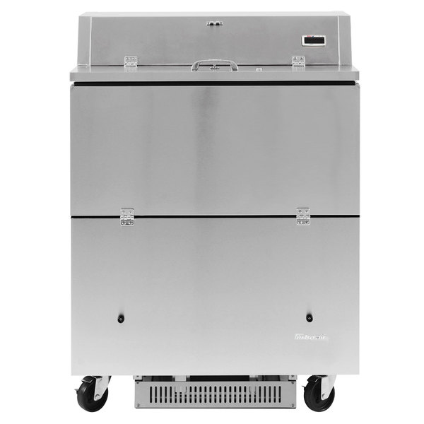 """Turbo Air TMKC-34D-N-SS Super Deluxe 34"""" Dual Sided All Stainless Steel Milk Cooler"""