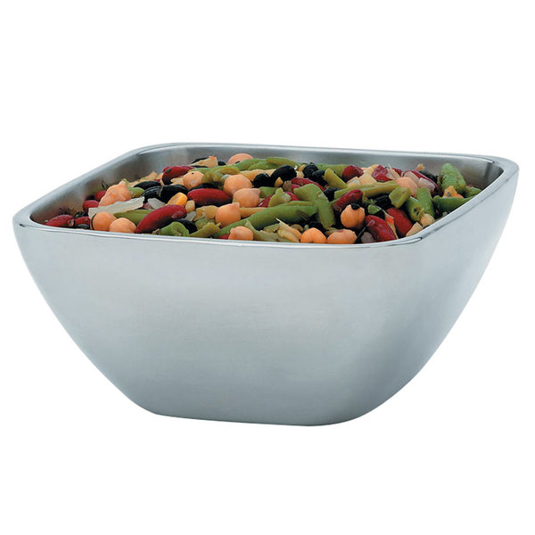 Vollrath 47672 Double Wall Square 1.8 Qt. Serving Bowl Main Image 1