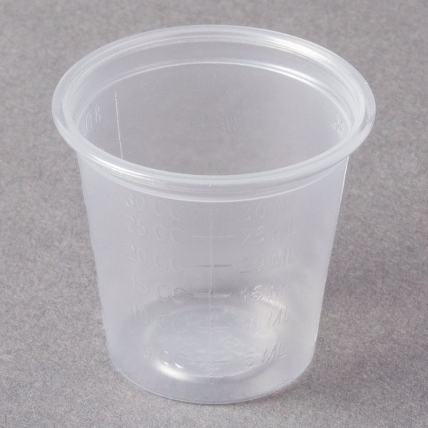 Dart Conex Complements 125PCG 1.25 oz. Translucent Plastic Graduated Medicine Cup - 2500/Case
