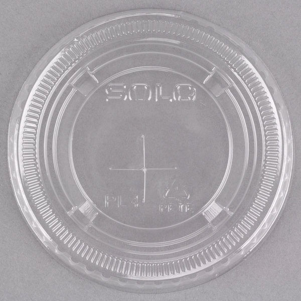 Solo UltraClear PL4TSN Clear PET Plastic Lid with Straw Slot - 2500/Case