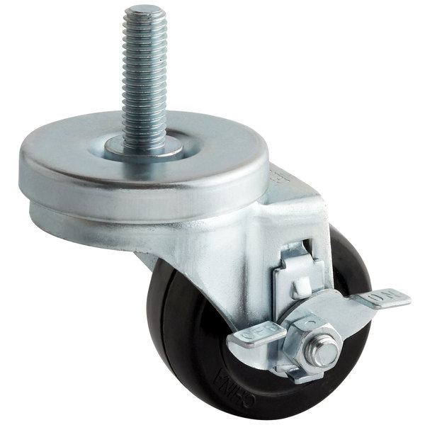 "Turbo Air 30265H0200 Equivalent 2 1/2"" Swivel Stem Caster with Brake Main Image 1"