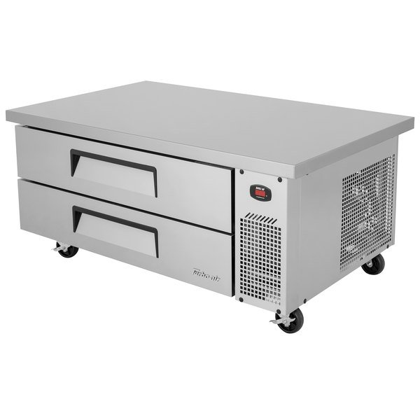 "Turbo Air TCBE-52SDR-E-N 52"" Two Drawer Refrigerated Chef Base with Extended Top"