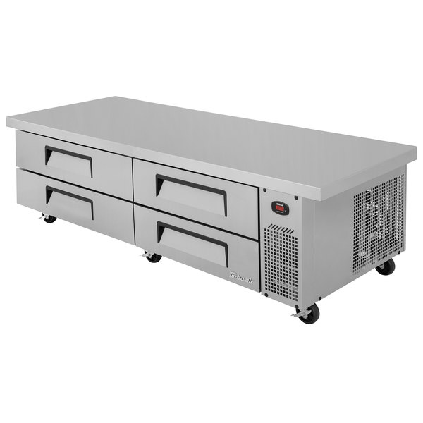 """Turbo Air TCBE-82SDR-E-N 84"""" Four Drawer Refrigerated Chef Base with Extended Top"""