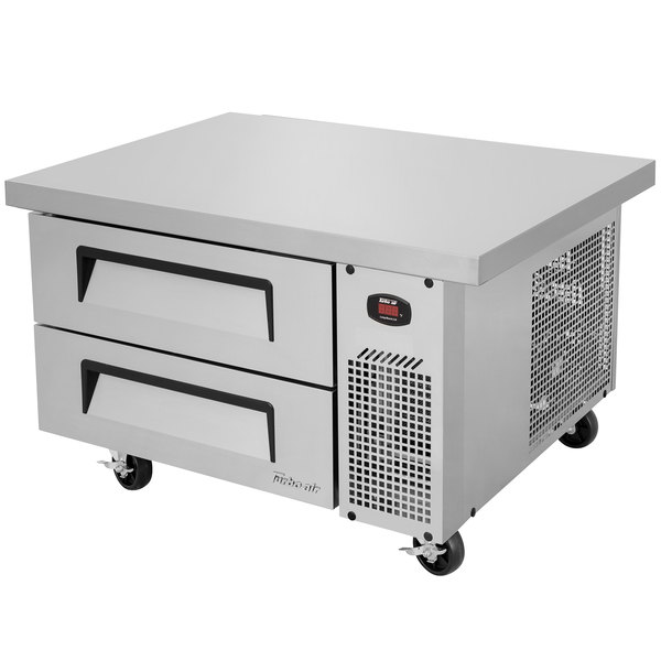 "Turbo Air TCBE-36SDR-E-N 36"" Two Drawer Refrigerated Chef Base with Extended Top Main Image 1"