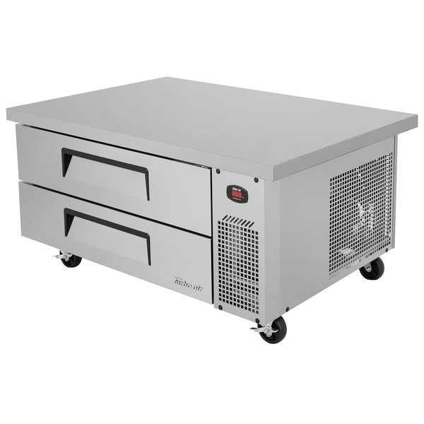 "Turbo Air TCBE-48SDR-E-N 48"" Two Drawer Refrigerated Chef Base with Extended Top"
