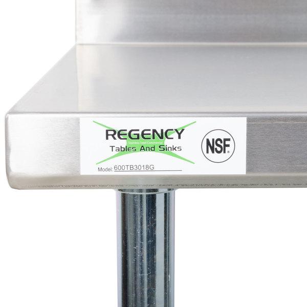 Regency 30 Quot X 18 Quot 18 Gauge 304 Stainless Steel Equipment