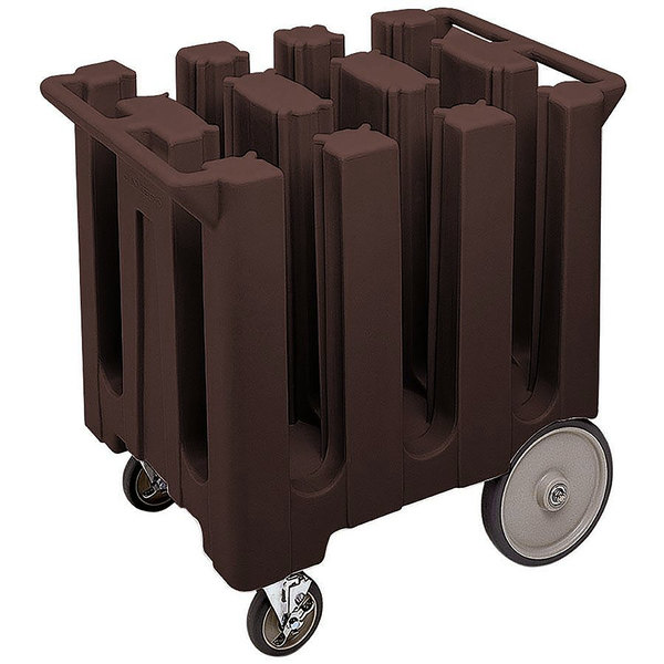 Cambro DC575131 Poker Chip Dark Brown Dish Dolly / Caddy with Vinyl Cover - 6 Column