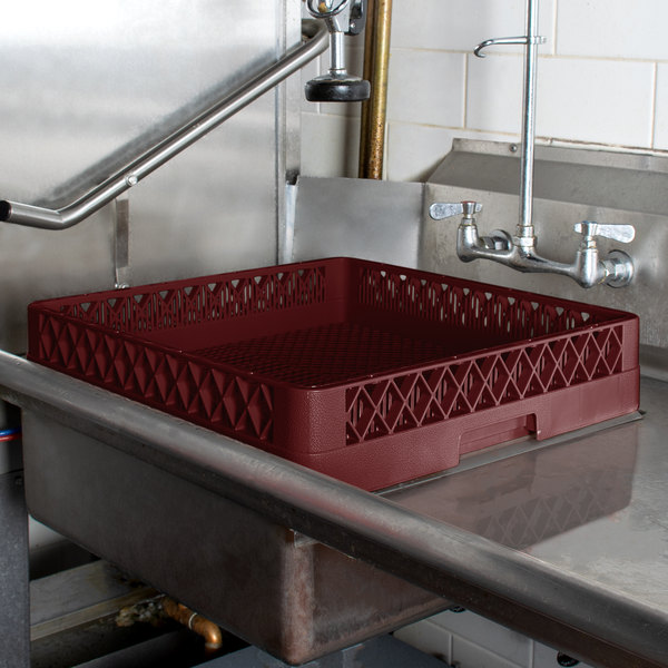 Vollrath TR2 Traex® Full-Size Burgundy Flatware Rack