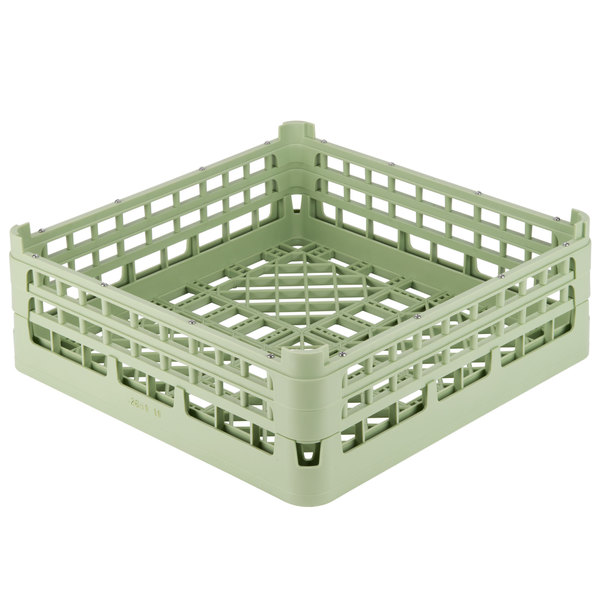 "Vollrath 52682 Signature Full-Size Light Green 8 3/16"" X-Tall Open Rack Main Image 1"