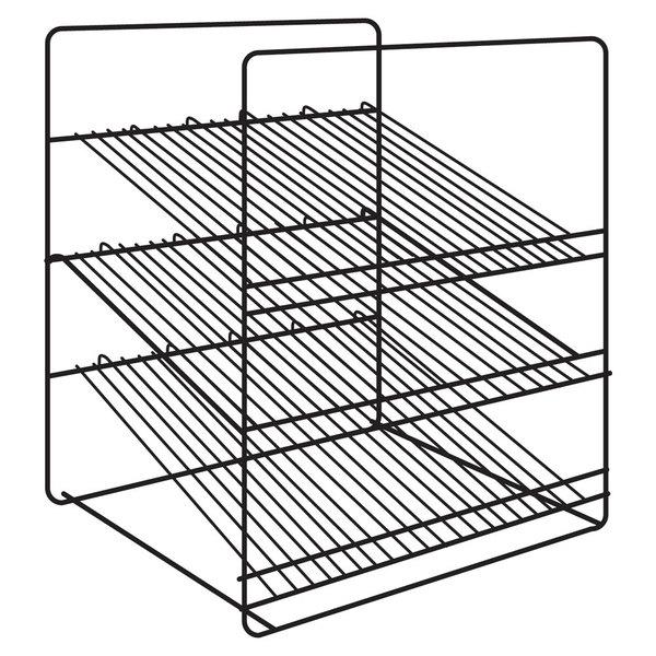 Hatco Fsdt3sar 3 Shelf Angle Display Rack For Fsdt Holding And