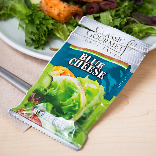 Classic Gourmet Blue Cheese Dressing 1.5 oz. Portion Packet - 60/Case