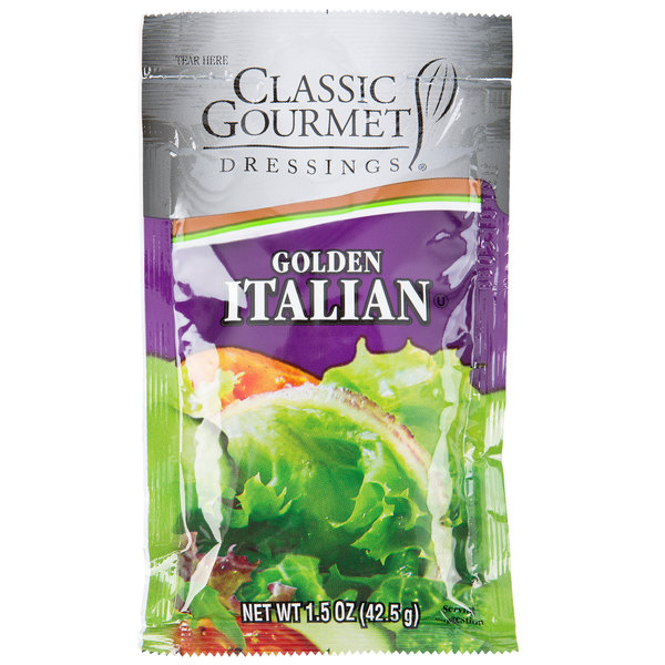 Classic Gourmet Golden Italian Dressing 1.5 oz. Portion Packet - 60/Case