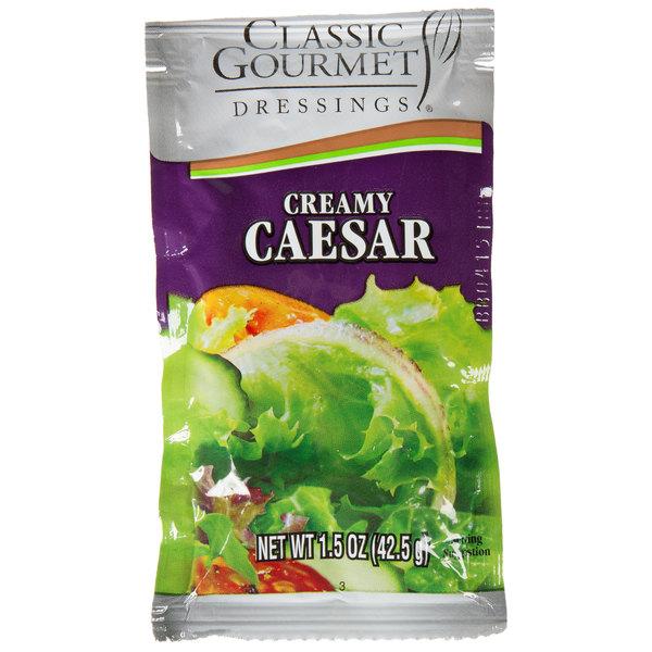 Classic Gourmet Creamy Caesar Dressing 1.5 oz. Portion Packet - 60/Case