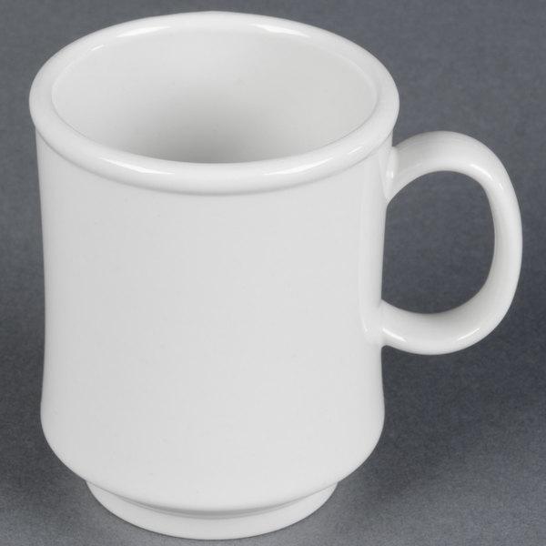 GET TM-1308-W 8 oz. White Tritan Mug - 24/Case Main Image 1