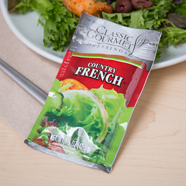 Classic Gourmet Country French Dressing 1.5 oz. Portion Packet - 60/Case Main Image 3