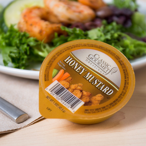 Classic Gourmet Honey Mustard 1.5 oz. Portion Cup - 96/Case