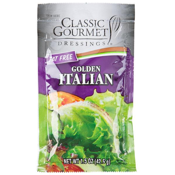 Classic Gourmet Lite Italian Dressing 1.5 oz. Portion Packet - 60/Case