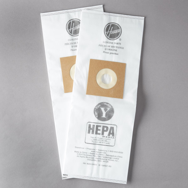 Hoover Ah10040 Type Y Hepa Vacuum Bag For Upright Vacuums 2 Pack Main Picture Image Preview