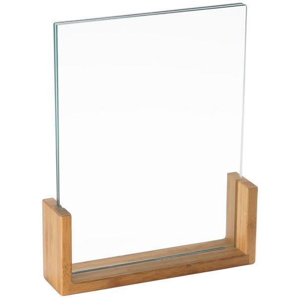 """Cal-Mil 1510-811-60 U-Frame Bamboo Base 9"""" x 1 1/2"""" x 12"""" Displayette with Acrylic Insert Main Image 1"""