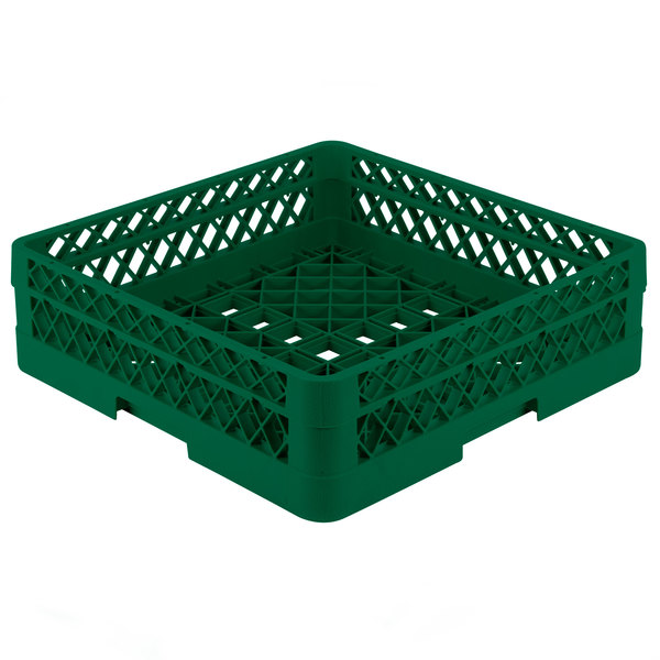 """Vollrath TR1A Traex® Full-Size Green 5 1/2"""" Open Rack with 1 Extender"""
