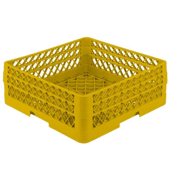 """Vollrath TR1AA Traex® Full-Size Yellow 7 1/4"""" Open Rack with 2 Extenders"""