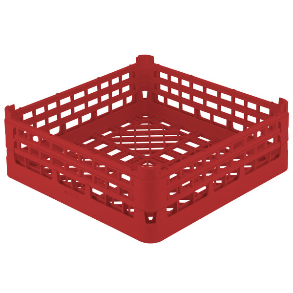 """Vollrath 52682 Signature Full-Size Red 8 3/16"""" X-Tall Open Rack"""