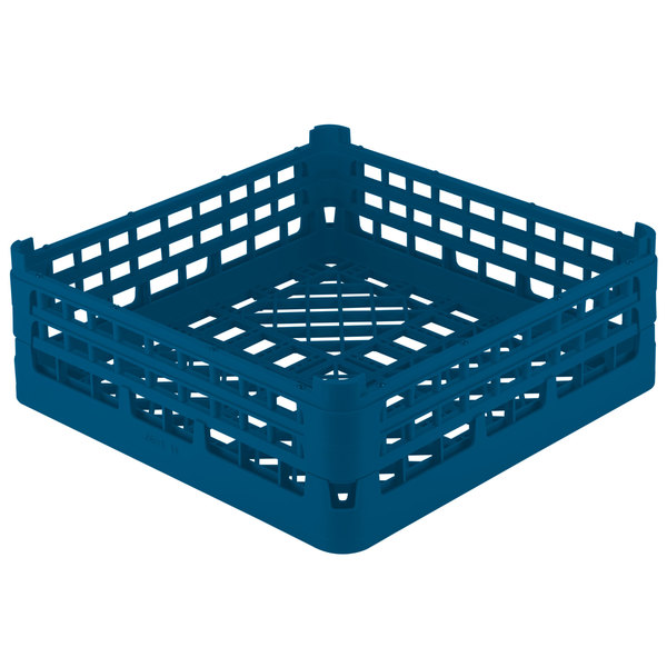 """Vollrath 52682 Signature Full-Size Royal Blue 8 3/16"""" X-Tall Open Rack"""