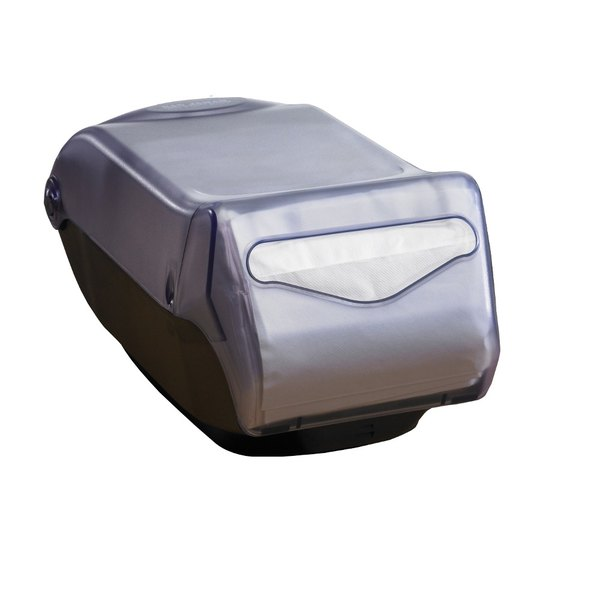 San Jamar H5005CL Fullfold Venue Countertop Napkin Dispenser with Control Face - Clear