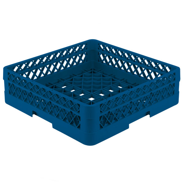 "Vollrath TR1A Traex® Full-Size Royal Blue 5 1/2"" Open Rack with 1 Extender"