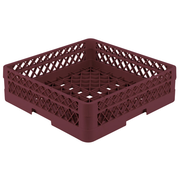 "Vollrath TR1A Traex® Full-Size Burgundy 5 1/2"" Open Rack with 1 Extender"