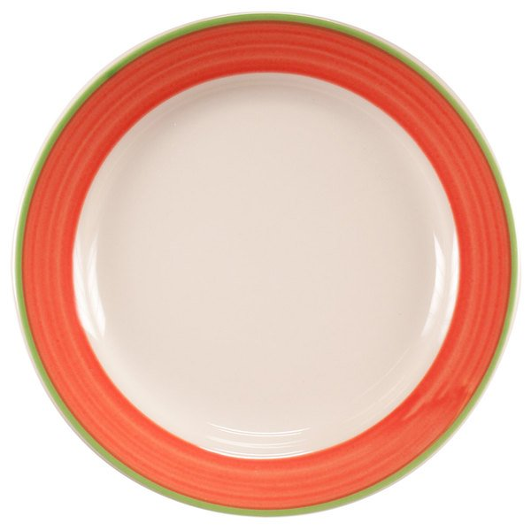 """Homer Laughlin 2088083 Toulon 11 1/8"""" Rolled Edge Plate - 12/Case"""