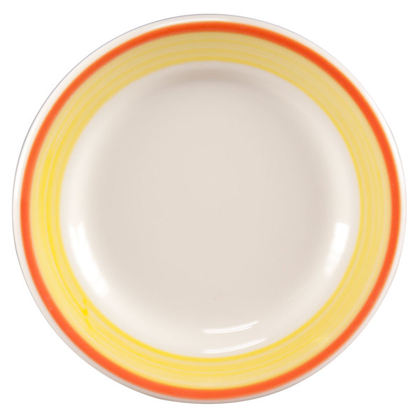 """Homer Laughlin 2058082 Martiques 9"""" Rolled Edge Plate - 24/Case"""