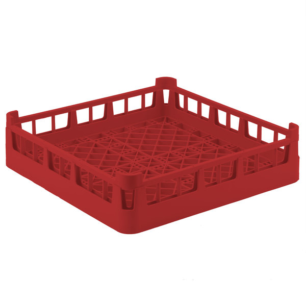 """Vollrath 52696 Signature Full-Size Red 4 7/8"""" Short Extended Open Rack Main Image 1"""