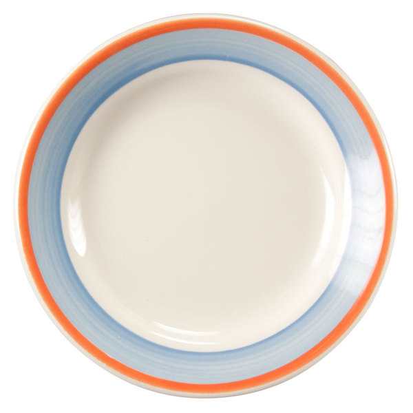 """Homer Laughlin 2018084 Imperia 6 1/4"""" Rolled Edge Plate - 36/Case"""