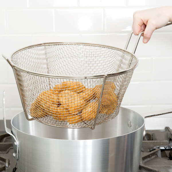 ROUND DIPPING BASKET FOR BREADING TABLE FRYER