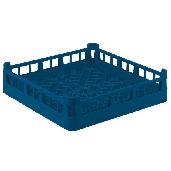 """Vollrath 52696 Signature Full-Size Royal Blue 4 7/8"""" Short Extended Open Rack"""