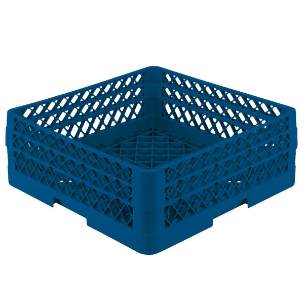 """Vollrath TR1AA Traex® Full-Size Royal Blue 7 1/4"""" Open Rack with 2 Extenders"""