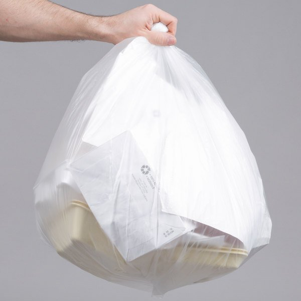 "20-30 Gallon 10 Micron 30"" x 37"" Lavex Janitorial High Density Can Liner / Trash Bag - 500/Case"