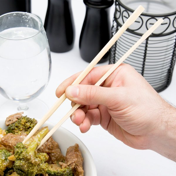 "Kari-Out Company 1100310 9"" Japanese Style Mikami Bamboo Chopsticks - 67/Pack Main Image 5"