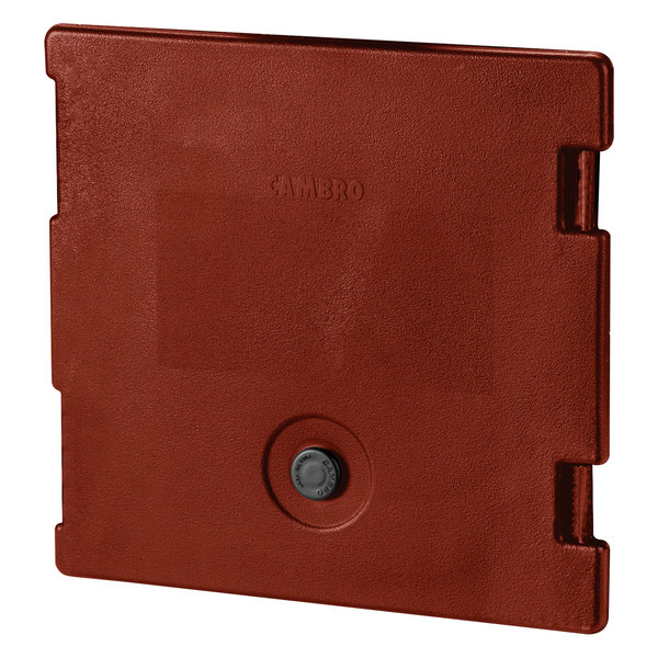 Cambro 6318402 Brick Red Camcarrier Replacement Door with Gasket and Vent Cap Main Image 1