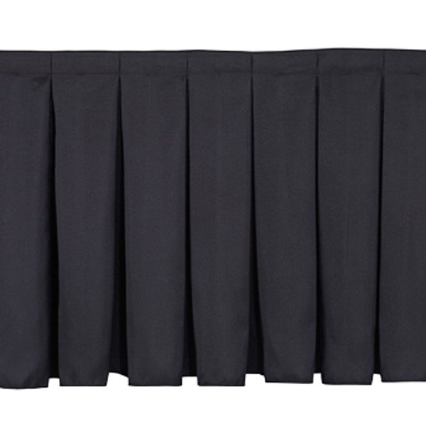 "National Public Seating SB16-36 Black Box Stage Skirt for 16"" Stage - 36"" Long Main Image 1"