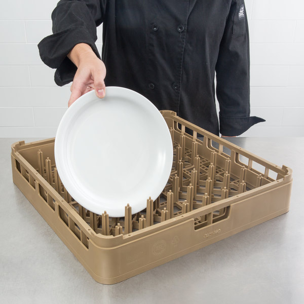 Vollrath 52672 Beige Signature Full-Size Plate Rack Main Image 4